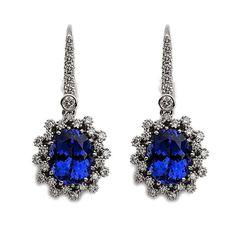 Fabulous #tanzanite and #diamond earrings by De Hago.