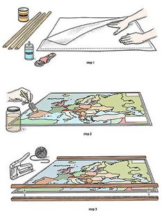 Follow these step-by-step instructions to create an authentically vintage-looking map.
