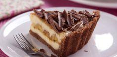 Torta Gelada de Banana, Chocolate e Coco