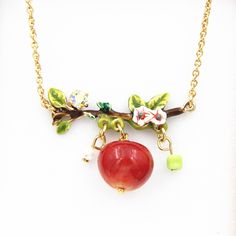 Find More Pendant Necklaces Information about Fruit Series Ping Fruit Flower Necklace For Women Enamel Gold Plated High Quality Jewelry New Arrival,High Quality necklace bib,China flower fabric for sale Suppliers, Cheap flower necklace pendant from warmhome jewelry on Aliexpress.com