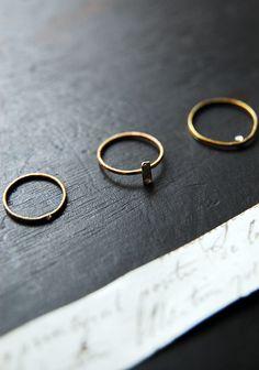 little rings.