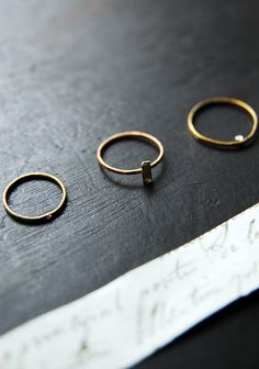 little rings.