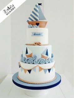 Party / birthday / cake / nautical / sail boat