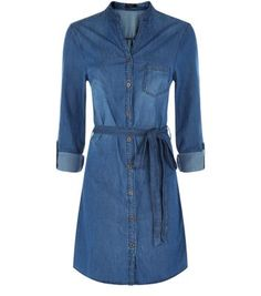 Tall. Bring denim into the shirt dress trend with this notch neck design - keep the look casual with camouflage print slip on plimsolls.- Button front fastening- Notch neck- Rolled sleeves- Tie waist detail- Single pocket front- Mini length- Casual fit- Model wears UK 10/EU 38/US 6 Tall size guide:UK size 8: Bust - 84cm, Waist - 66cm, Hips - 90cmUK size 10: Bust - 88cm, Waist - 70cm, Hips - 94cmUK size 12: Bust - 93cm, Waist - 75cm, Hips - 99cm UK size 14: Bust - 98cm, Waist - 80cm, Hips…