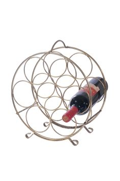 Rondo 7 asztali kovácsoltvas bortartó többféle színben / Kovácsoltvas bortartók / Kovácsoltvas lakberendezési kiegészítők / Termékek / www.alchimistastudio.hu - Alchimista Studió