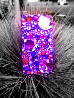 Sparkly Purple & Pink Custom iPhone 4/4S Case by SparklingCases, $30.00
