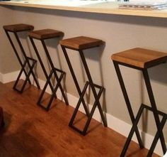 36 Metal & wood stool barstool chair metal stool metal and wood bar stool modern stool kitchen stool counter stool