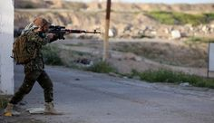 Syrian government's military forces defended their positions in Jafrah farms against ISIS (Daesh / ISIL) large-scale attack on Sunday, inflicting major casualties on the terrorists, army sources said.