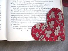 Sew Many Ways...: Fabric Heart Bookmark…Free Pattern