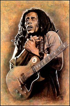 Bob Marley by Theo Reijnders Bob Marley Painting, Bob Marley Art, Reggae Bob Marley, Arte Hip Hop, Hip Hop Art, African American Art, African Art, Rasta Art, Bob Marley Legend