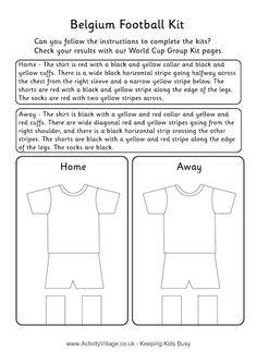 a2601f535 Belgium football kit worksheet Football Team Kits