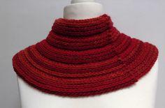 Col chauffe épaules au crochet, tons rouges et oranges, laine et acrylique, pour femme : Echarpe, foulard, cravate par titlaine