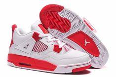 jordan 4 rouge et blanche