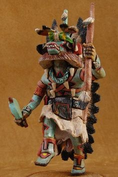 Hopi Made Ahote Kachina Doll Master Carver Milton Howard Collectible American Indian Collectible Art $660.00 #Alltribes