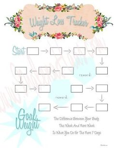 Weight Loss Tracker Planner Printable | Free Planner Printables ...