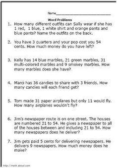 high school math word problems pdf