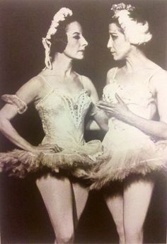 Too much awesome for one photo! Alicia Alonso and Maya Plisetskaya.
