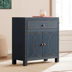 Harper Blvd Timson Navy Double-Door Cabinet | Overstock.com Shopping - The Best Deals on Coffee, Sofa & End Tables