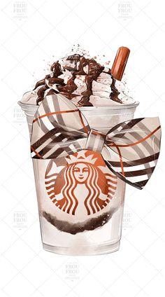 Coffee Wallpaper Iphone, Starbucks Wallpaper, Iphone Background Wallpaper, Aesthetic Iphone Wallpaper, Aesthetic Wallpapers, Starbucks Art, Starbucks Drinks, Arte Fashion, Fashion Wall Art