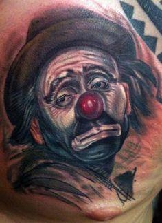 Sad Hobo Clown Tattoo Design - Tattoo Ideas