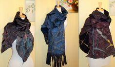 Feltrata Art sciarpa scialle Borgogna avvolgere di HandyMaria