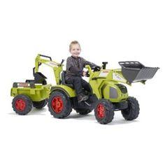 falk 1010y vlo et vhicule pour enfant tracteur claas axos pelle