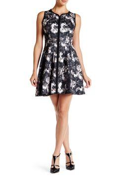 Scuba Zip Front Dress by Betsey Johnson on @nordstrom_rack