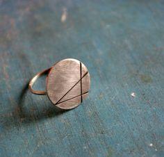 Scrib/blackened sterling silver/handmade by Fleurfatale