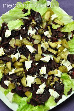 W kuchni pustki, rządzi chłodzony mocno arbuz, mrożona kawa i lody. Ale rodzina się uparła na pieczonego kurczaka, zatem w kuchni mieliśmy tropiki Cobb Salad, Salads, Health Fitness, Cooking Recipes, Feta, Essen, Chef Recipes, Fitness, Salad