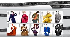Great Britain Stamp Presentation Great British FashionPack Number Date May the set of 10 unmounted mint Great British, British Style, British Fashion, English Fashion, First Class Stamp, Commemorative Stamps, Survival, Love Stamps, Stamp Collecting