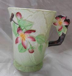 Carlton Ware Apple Blossom Chocolate Mug Green 1938   eBay