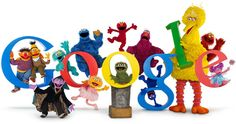 40th Anniversary of Sesame Street November 9, 2009 - Google doodle, not so much a traditional google doodle as a photo