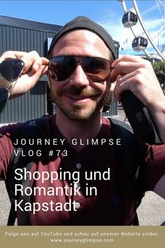 Kapstadt ist eine pulsierende Metropole. Uns gefällt die Stadt unheimlich gut und wir haben bei unserem Besuch jede Minute genossen. Journey, Wayfarer, Youtube, Ray Bans, Mens Sunglasses, Style, Cape Town, Scary, Swag