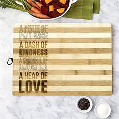 Our Personalised Bamboo Chopping Board is a fantastic kitchen gift and perfect for preparing Sunday roast or any other scrumptious meal for family & friends
