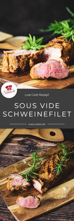 Rinderfilet im Sous Vide und Beefburner - grill-guru. Cooking Chef, Different Recipes, Pork Recipes, Healthy Recipes, Main Meals, Family Meals, Entrees, Slow Cooker, Food And Drink