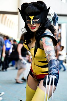 Female cosplay versions of Wolverine from X-Men Epic Cosplay, Cosplay Dress, Cosplay Girls, Female Cosplay, Awesome Cosplay, Anime Costumes, Cool Costumes, Costume Ideas, Halloween Cosplay