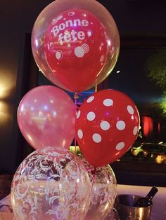 """30-100 12/"""" pouces rose grand ballons hélium polka dot baloons fête anniversaire"""