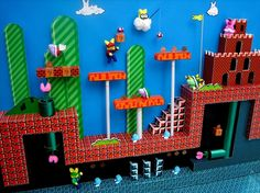 Mario World diorama with Peeps... does it get any better?