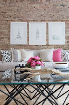 My living room!!! Living room, Paris inspired. I like the pillows