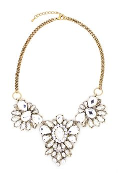 Triple Crystal Necklace