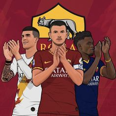 Illustration Art, Illustrations, As Roma, Sports, Hs Sports, Illustration, Sport, Paintings