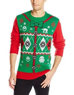 """Star Wars Christmas Sweaters - """"This was a hit at the Christmas party, a must buy for any Star Wars fan!"""" says one reviewer from Amazon."""