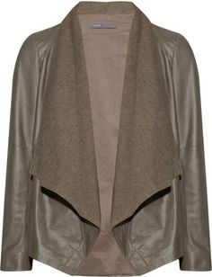 Vince Draped leather jacket