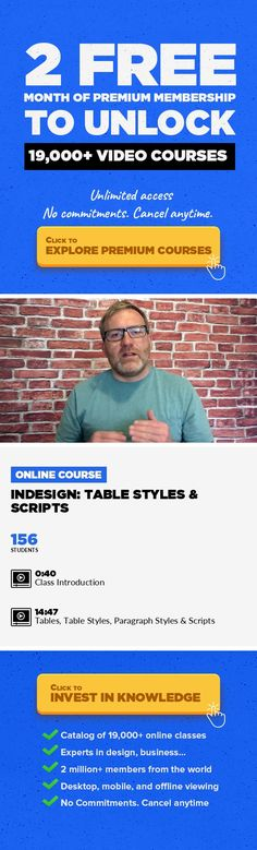 InDesign: Table Styles & Scripts Adobe InDesign, Graphic Design, Creative, Creativity #onlinecourses #onlineuniversitytips #onlinelearningillustration   In this lesson you will be introduced to some of the more advanced techniques for working with and managing your table designs. You will learn how to work with table styles, paragraph styles, character styles and pull this all together using scrip...