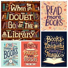 12 book quotes beautifully illustrated by Risa Rodil Library Quotes, Library Books, Library Posters, Library Ideas, I Love Books, Books To Read, My Books, Doctor Who Books, Favorite Book Quotes