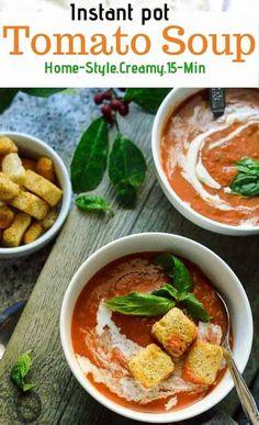 Instant Pot Tomato Soup - My Dainty Soul Curry soup healthy recipes rezepte soup soup Tomato Soup Ingredients, Tomato Soup Recipes, Curry Recipes, Healthy Indian Recipes, Vegan Keto Recipes, Cooking Recipes For Dinner, Instant Pot Dinner Recipes, Vegan Vegetable Soup, Vegan Meal Prep