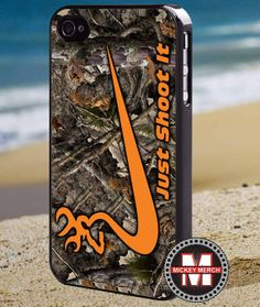 Just Shoot it orange camo  iPhone 4/4s/5 Case by MickeyMerchandise, $15.00