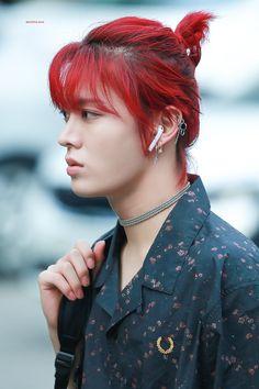 yuta and his red hair Jaehyun, Taeyong, Nct Yuta, Man Bun, Beautiful Soul, K Idols, Nct Dream, Nct 127, Red Hair