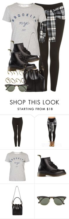 """Style #9930"" by vany-alvarado ❤ liked on Polyvore featuring Topshop, Dr. Martens, Yves Saint Laurent, Ray-Ban and ASOS"