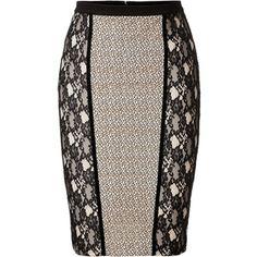 BLUMARINE Lace Panel Skirt                                                                                                                                                                                 Más